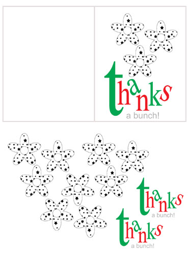 """Free Printable Thank You card: """"Thanks a Bunch"""""""