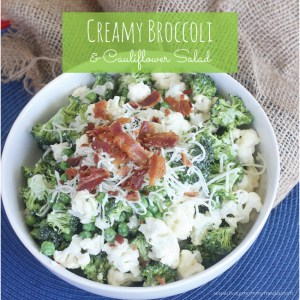Creamy Broccoli and Cauliflower Salad