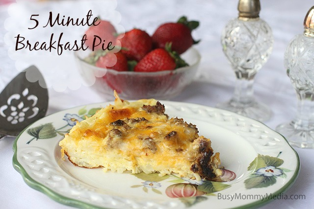 5 minute breakfast pie