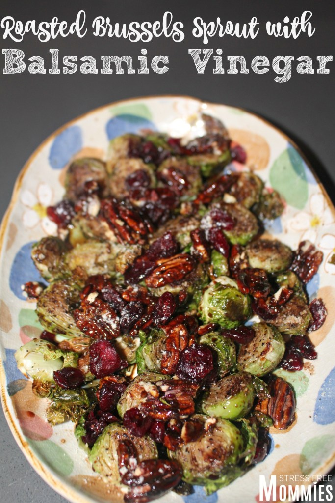 ... with garlic thyme and balsamic vinegar roasted brussels sprouts