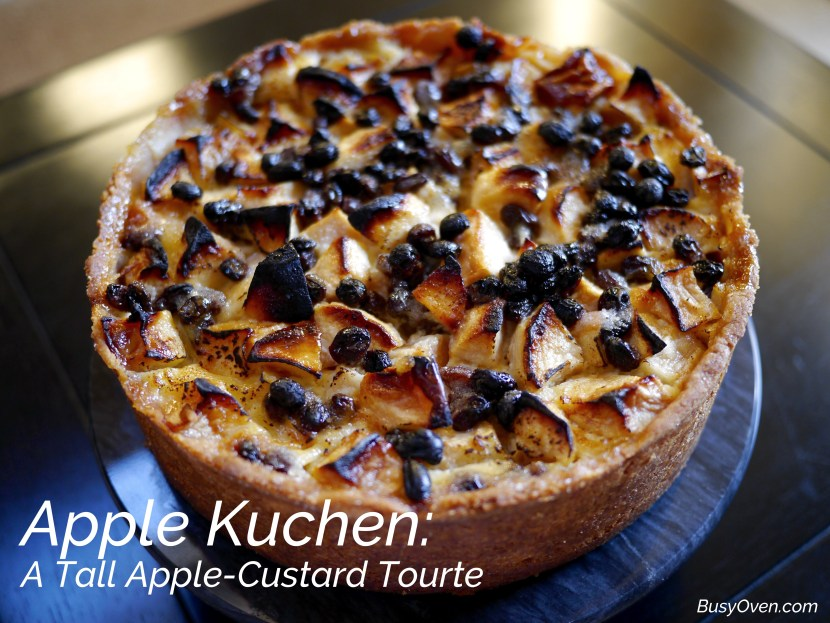 Apple Kuchen: A Tall Apple-Custard Tourte - BusyOven.com