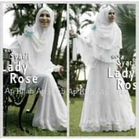 Syari Lady Rose, Gamis Syari Putih yang Anggun dan Elegan