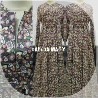 Dahlia maxy, Gamis Katun Jepang Murah dengan Motif Yang Cantik