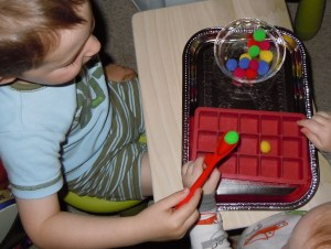 Br doing 1-to-1 correspondence activity