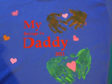 Freezer Paper Stenciling- Father's Day gift for the uber-procrastinator