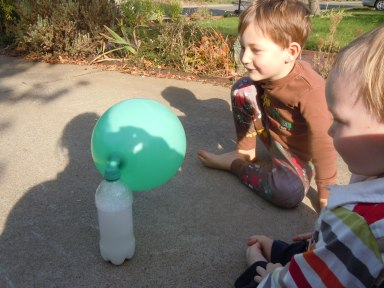 Of Bottles, Balloons, & Sunny Afternoons: fun with science