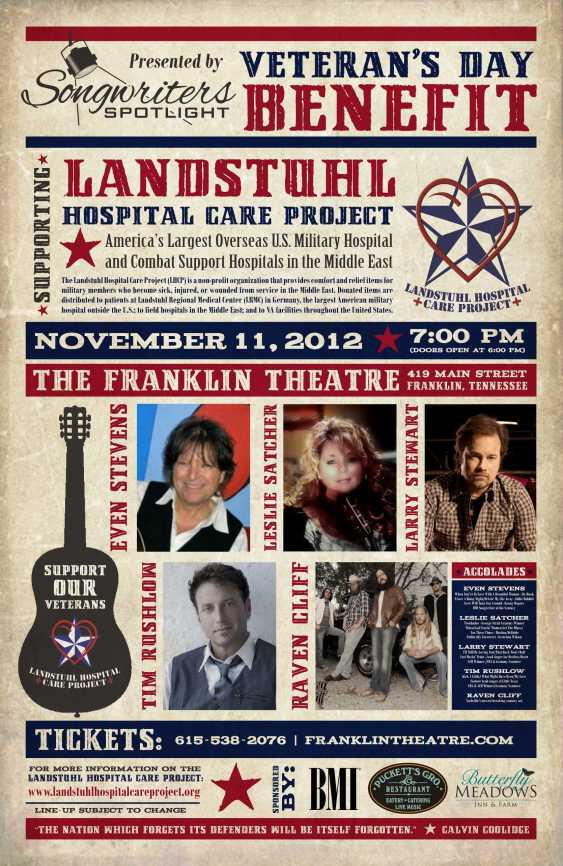 Songwriter Spotlight Veterans Day Benefit