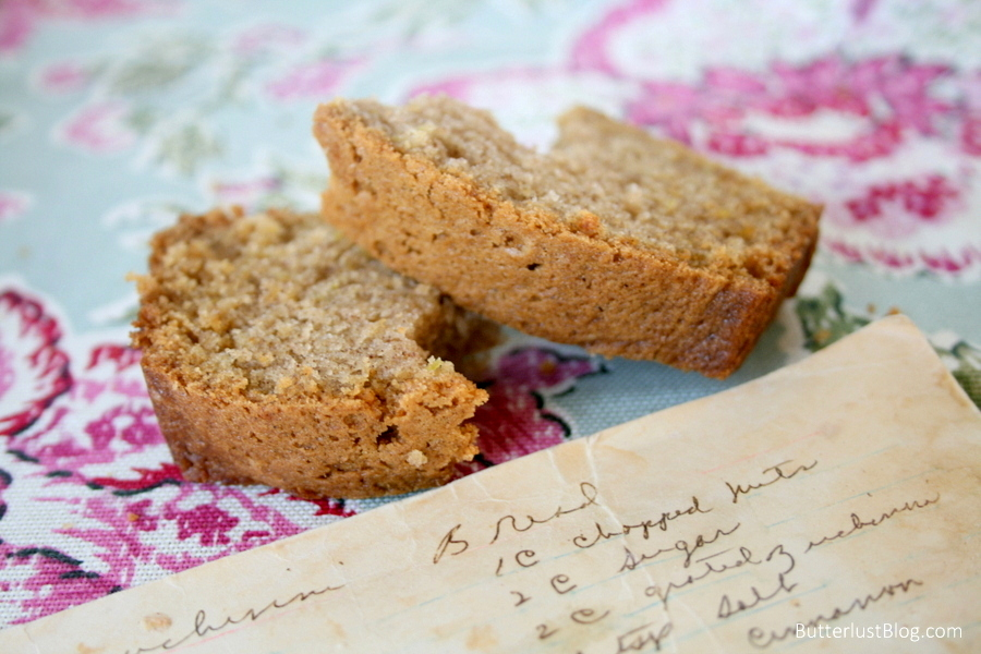 Grandma's Zucchini Bread | ButterLust Blog