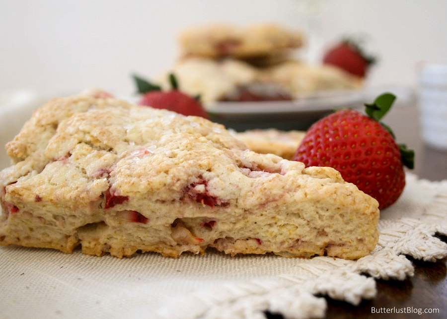 Strawberry Cream Scones