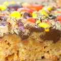 No Bake Chocolate, Peanut Butter & Corn Flake Bars
