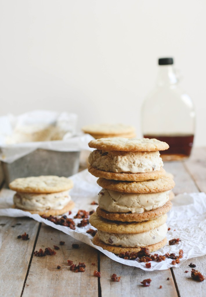Maple, Bacon & Buttermilk Ice Cream Sandwiches // butterlustblog.com