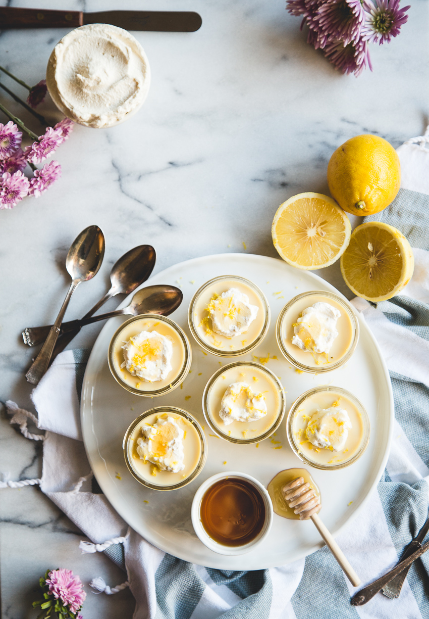 Bergamot & Honey Pots de Crème + Black Tea Whipped Cream // @butterlustblog
