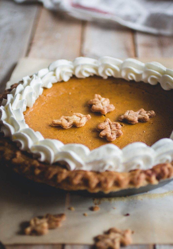 Sour Cream Pumpkin Pie // butterlustblog.com