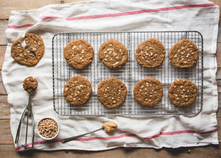 Maple Peanut Butter Toffee Cookies // butterlustblog.com