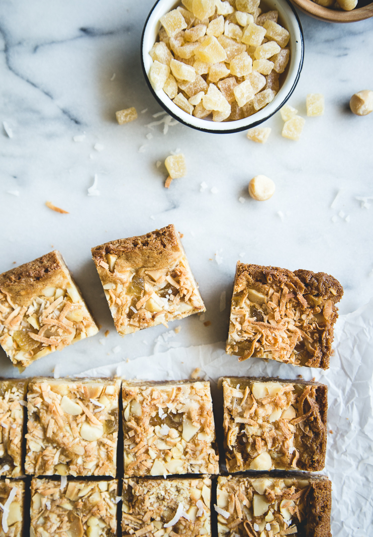 Piña Colada Blondies // butterlust.com