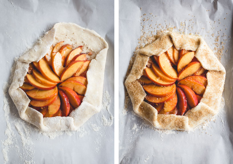 Bourbon-Honey Peach Galette with Buttermilk Crust & Pistachios // butterlust.com @butterlustblog