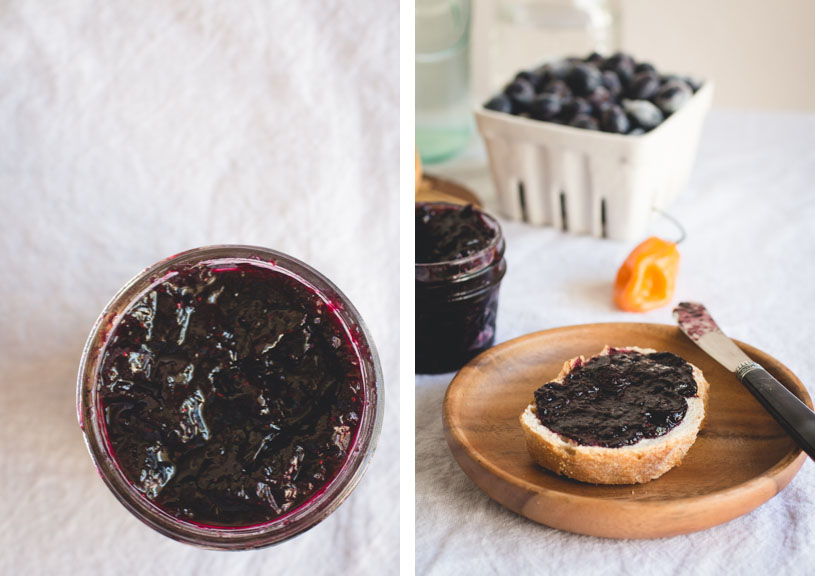 Small-Batch Blueberry Habanero Jam // butterlustblog.com @butterlustblog