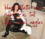 69 Sexy Haiku: Black stilettos