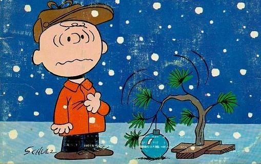 Isn't it disturbing that you can now BUY one of Charlie Brown's sad little Christmas trees?