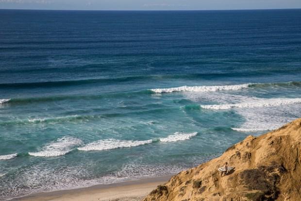"""Black's Beach Surfer"" image by Flickr user Tony Webster"