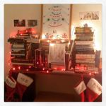 "Photo of the Day: My Xmas ""hearth"" (sometimes there's a cat in that cubbyhole, but not tonight…)"