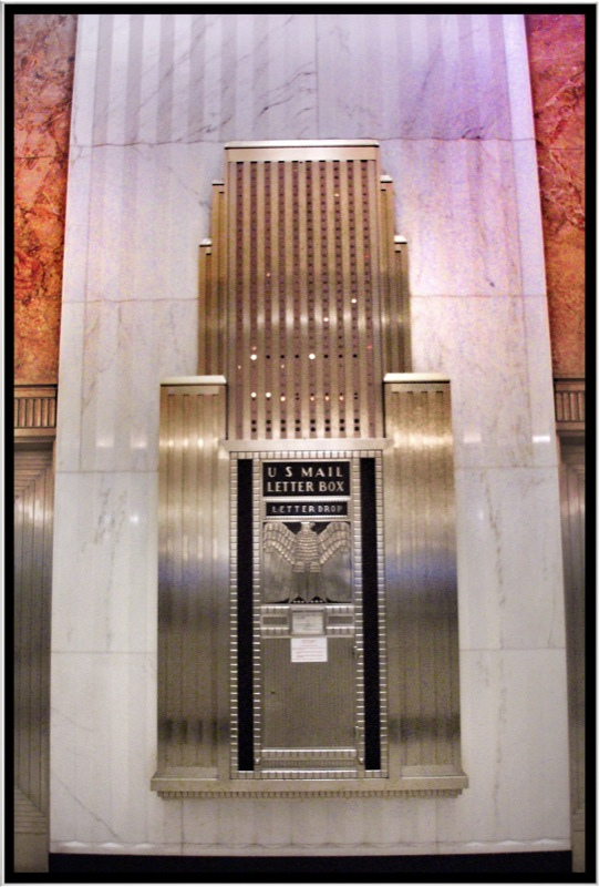 """Harris Trust & Savings Bank ~ Chicago IL ~ Elevator Locator/Mail Box"" image by Flickr user Bill Badzo"