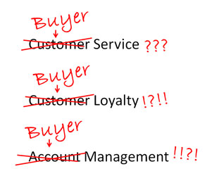 Think buyer, not customer
