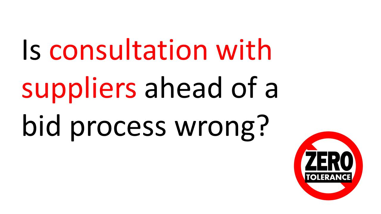 pre tender consultation
