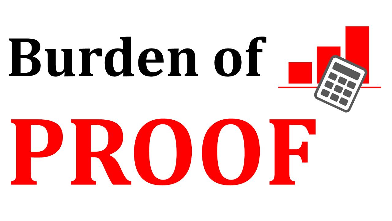 burden of proof on buyers
