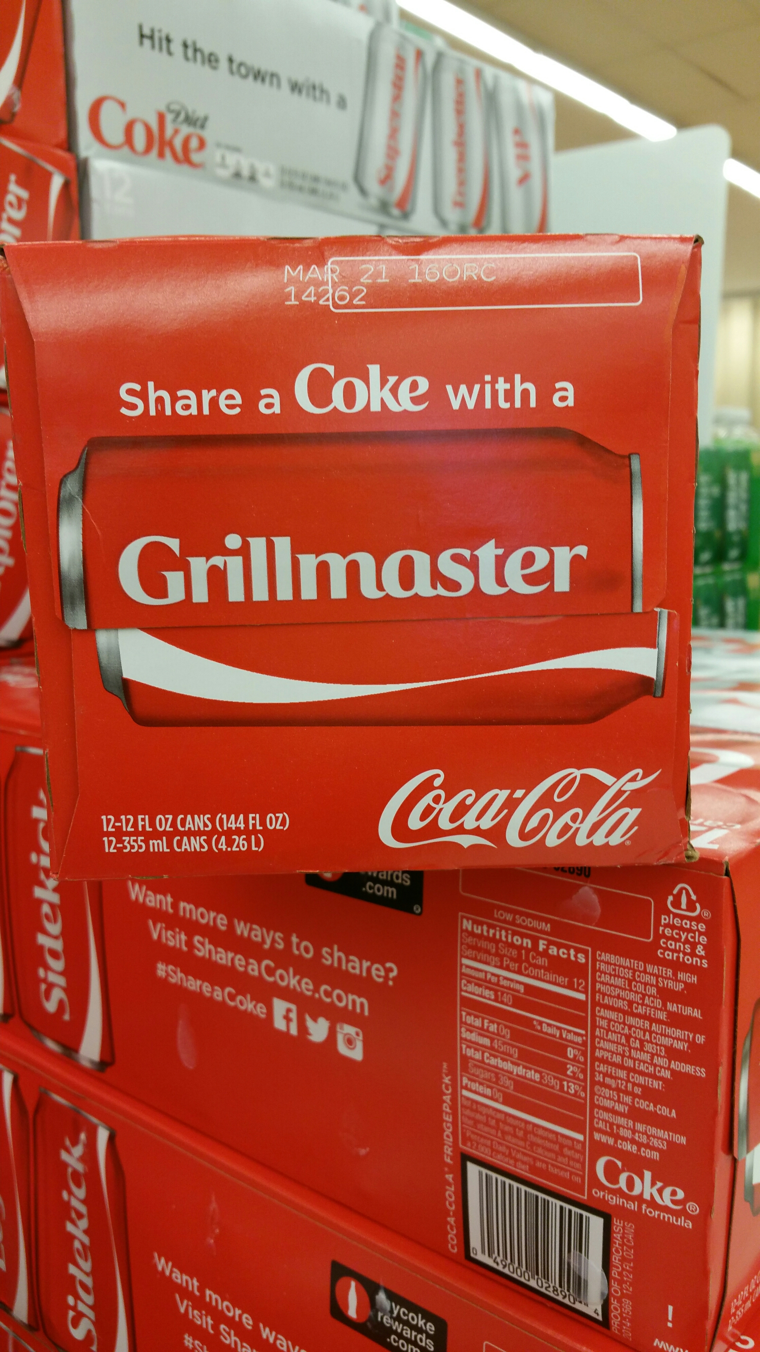 Grillmaster Coke Cans