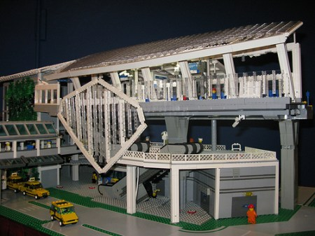 YVR Station, built in LEGO by the Vancouver LEGO Club! This model is now on display at Science World's LEGO exhibition, Wheels, Wings and Waves—a LEGO® World of Transportation. (Photo by <a href=http://www.flickr.com/photos/tim_tosino/>Tim Tosino</a>.)