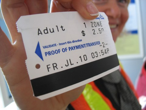 First ticket on the Canada Line!