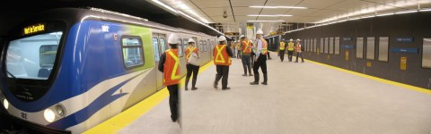 Platform at Canada Line's Waterfront Station!