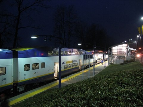 The West Coast Express at Port Haney Station.