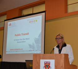 Peggy Hunt, TransLink's Manager of Government Relations and Chair of the BC CUTA Committee
