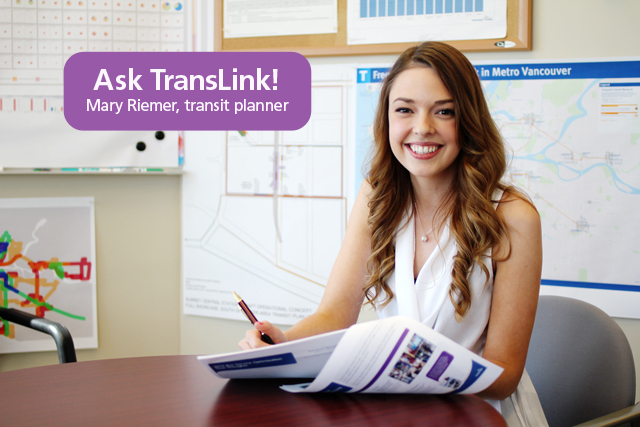 Mary Riemer, transit planner!