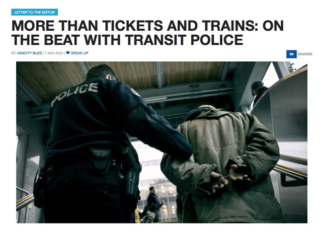 Transit Police on Vancity Buzz