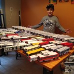 Trevor showed us his collection of transit vehicles!
