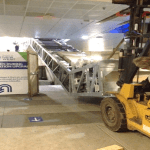 Installation of the west escalator