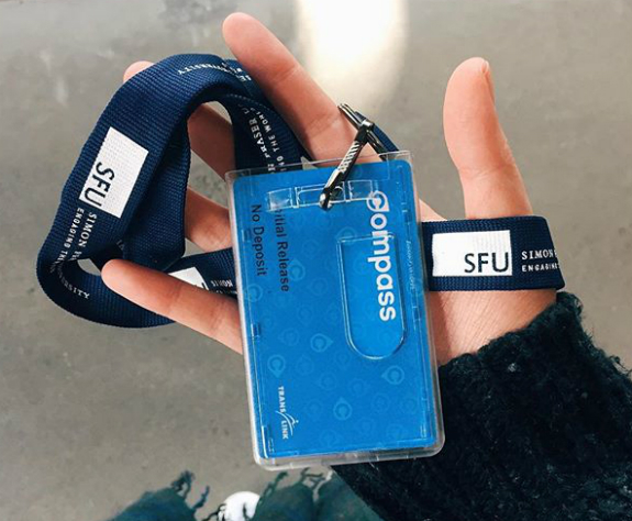 A photo of Instagram user @cherylkwan with her Compass Card in a lanyard