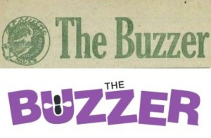 Print Buzzer masthead from 1917 and 2016
