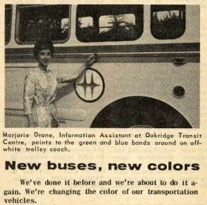 1964 - New bus colours