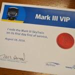 Mark III VIP certificate