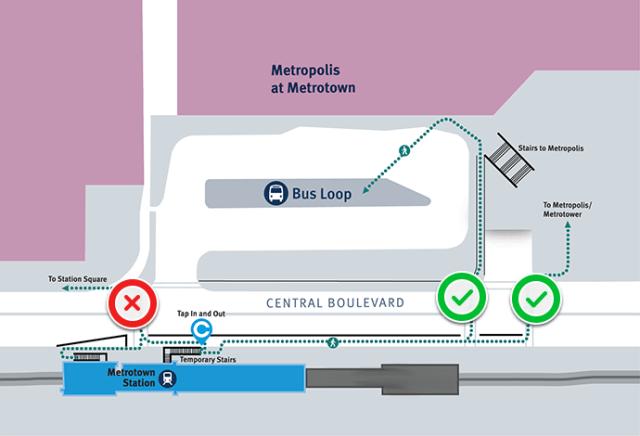 Metrotown map