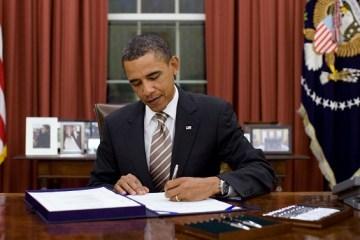 President Obama Signing an Executive Order
