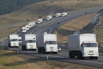 Russia has to remove its convoy from Ukraine or face more US sanctions