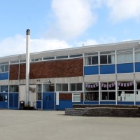 English school building