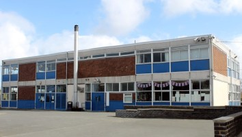 English school building