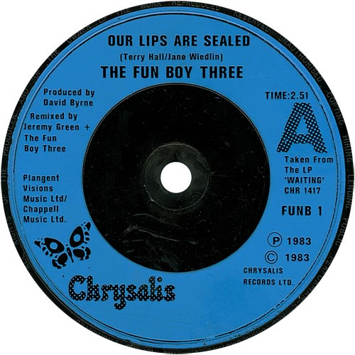 Fun Boy Three Our Lips Are Sealed