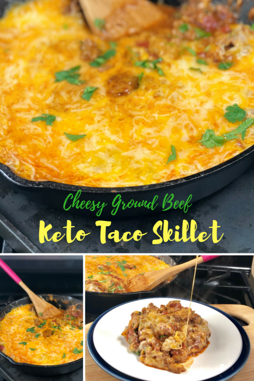 Sightly I Came Up This Cheesy Ground Beef Keto Taco This Is A Cheesy Ground Beef Keto Taco Skillet By Pink Keto Recipe Ground Beef Cauliflower Keto Recipe Ground Beef Cheese